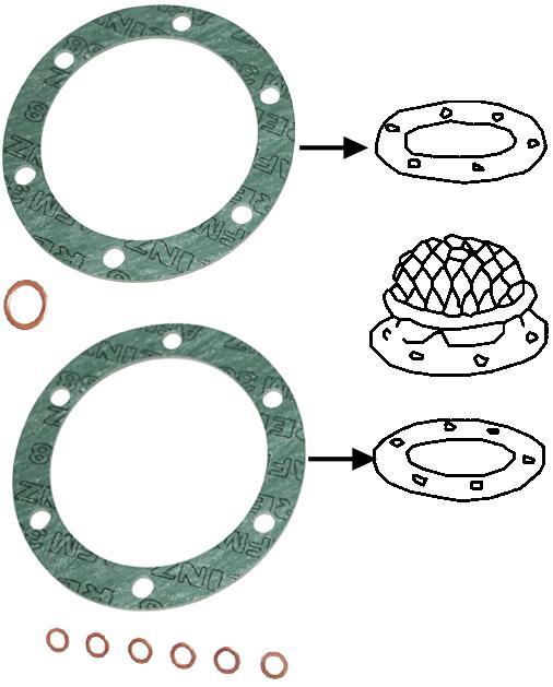 Těsnění filtru oleje - Typ 1 motor (» 1960)
