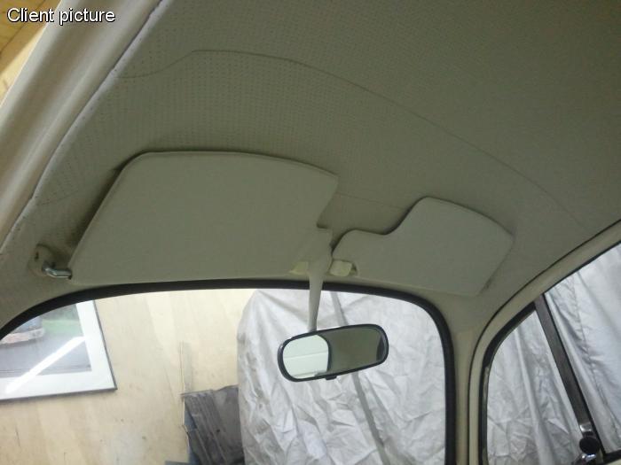 Clony sluneční OE+zrcátko/bílé - Typ 1 (1967 ») T.1 Cabrio (1972 »)
