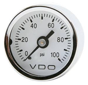 Přístroj bílý/mechanický/tlak oleje 100PSI (Ø 42mm)