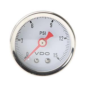 Přístroj bílý/mechanický/tlak oleje 15PSI (Ø 42mm)