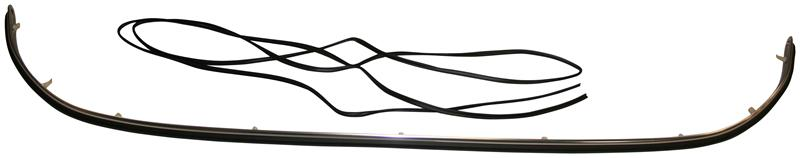 Lišta předního nárazníku/set - Porsche 356 B/C (1959 » 65)