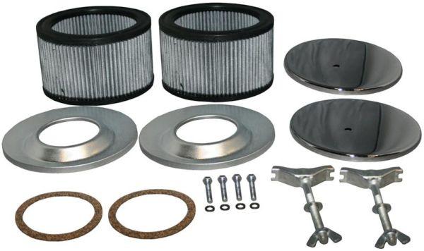 Filtry vzduchu chrom/kit (karburátory 40-44EIS)