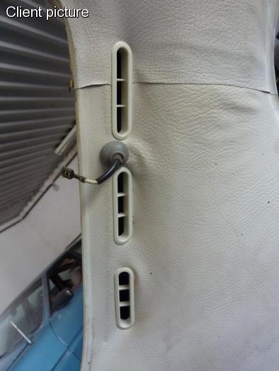 Mřížky ventilace/vnitřní bílé - Typ 1 (1971 »)