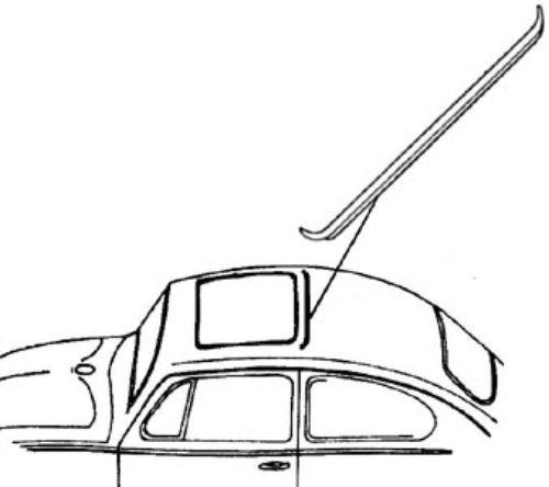 Těsnění střešního okna/zadní - Typ 1 (1963 » 76)