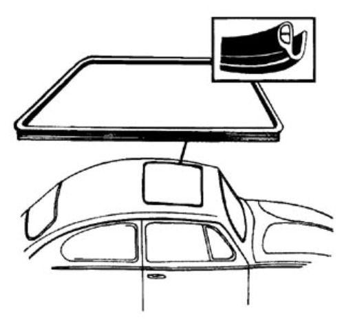 Těsnění střešního okna - T.1 1303 (1972 » 79)