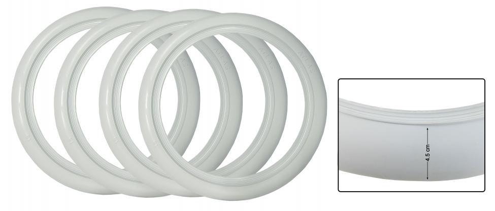 Lemy pneumatik/bílé 16 inch (4.5cm)