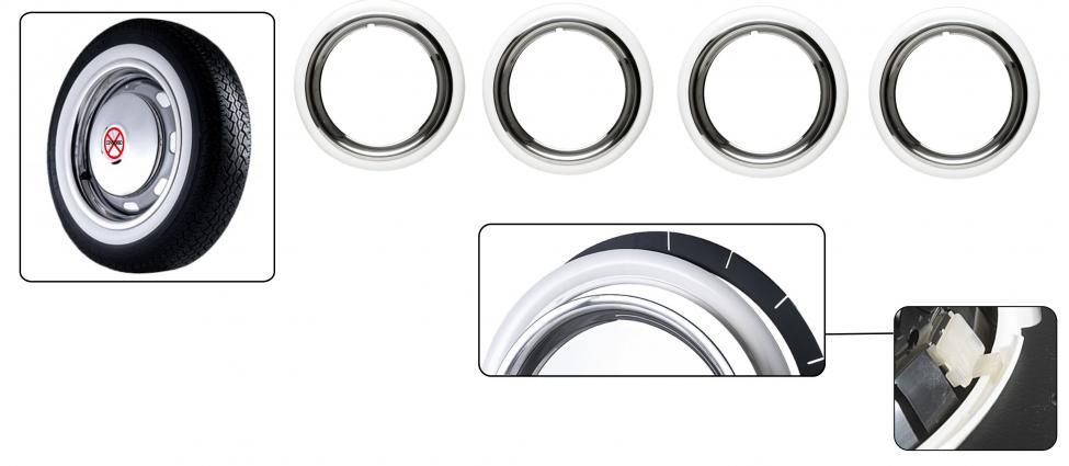 Lemy pneumatik/bílé (14 inch)