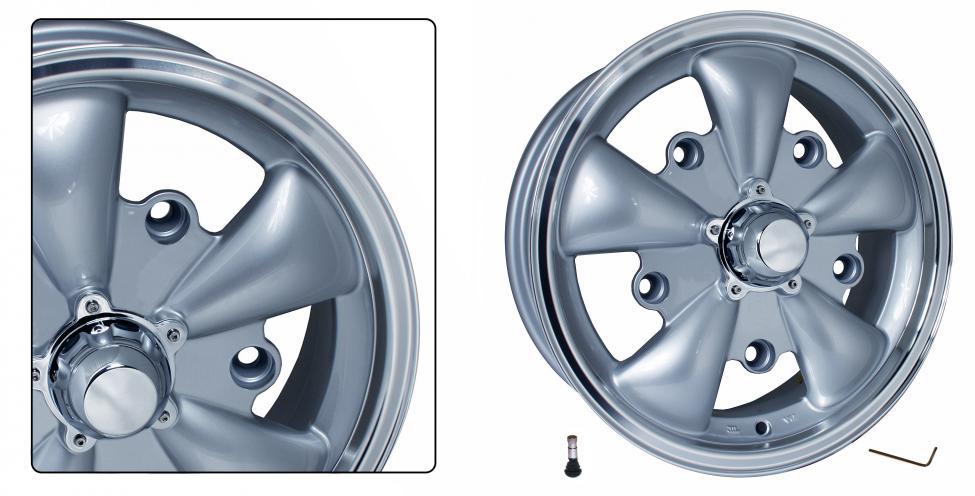 Kolo EMPI GT-5/stříbrné 5x205mm ET +20 (5.5x15)