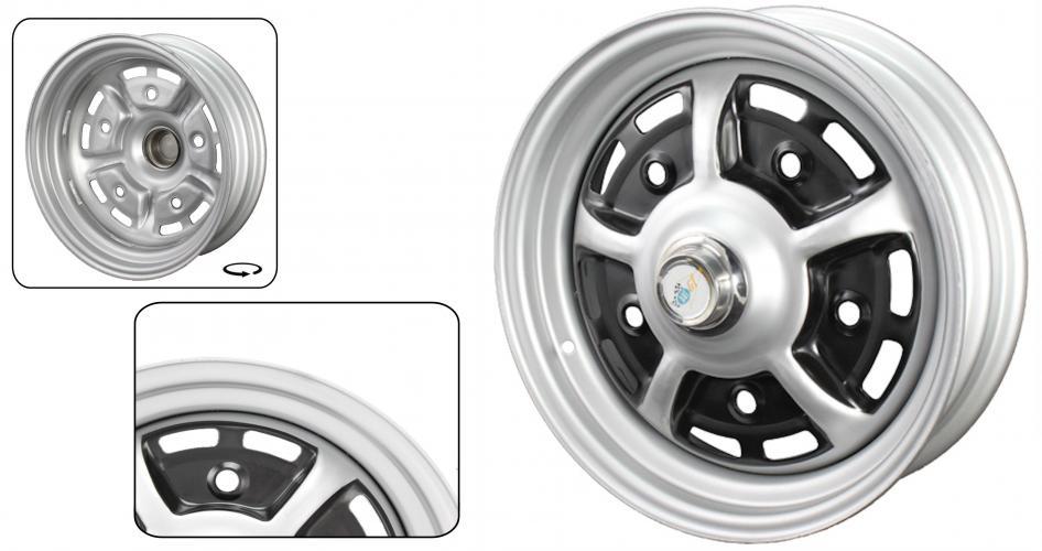 Kolo Sprintstar/ocel šedo/černé 5x205mm ET +34 (5.5x15)