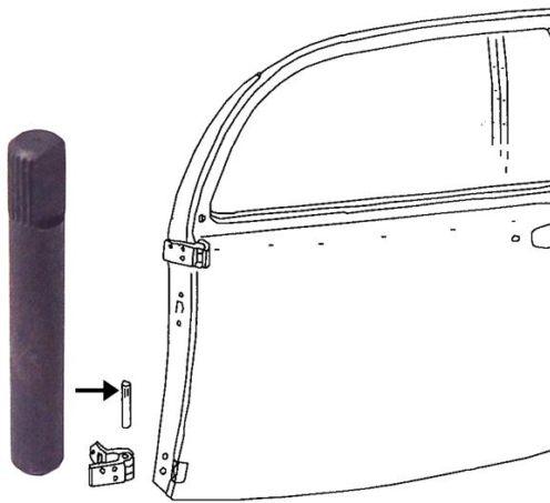 Čep pantu dveří +0.1mm - Typ 1 (1967 » 03)