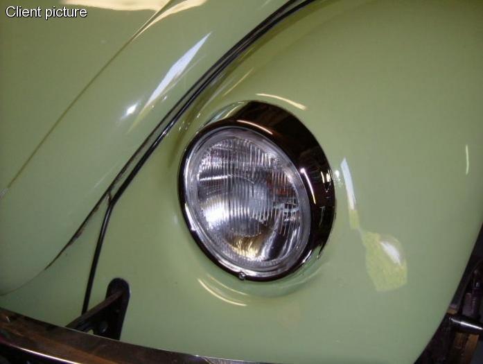 Rámeček světlometu S/S chrom L/P - Typ 1/2/3/181 (1967 »)