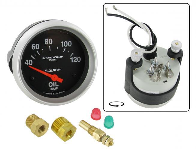 Přístroj černý/teplota oleje/40°-120°C (Ø 67mm)
