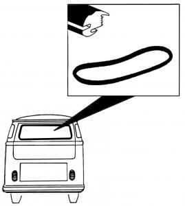 Těsnění skla OE/zadní - Typ 2 Samba (1955 » 63)