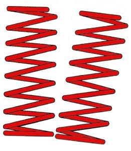 Pružiny tlumiče nárazu 6-8cm/sport - T.1 1302/03 (1970 » 80)
