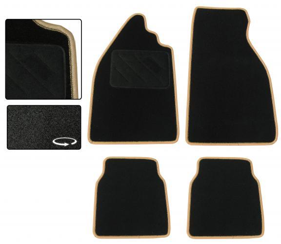 Koberce podlahy černé/béžový lem - Typ 1 (» 2003)
