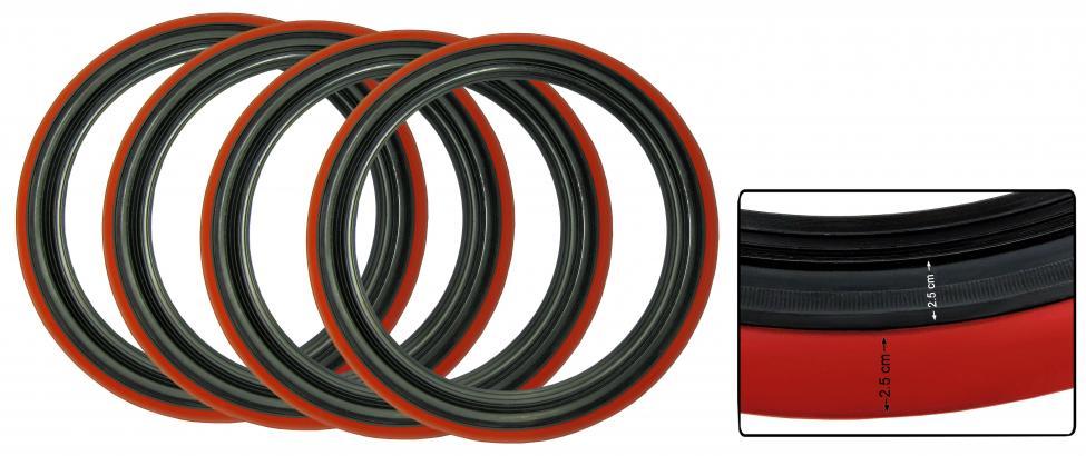 Lemy pneumatik/černo/červené 15 inch (2.5-2.5cm)