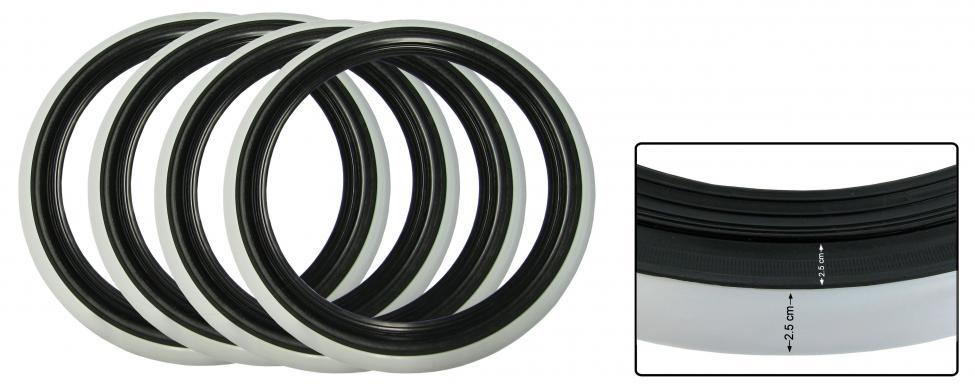 Lemy pneumatik/černo/bílé 14 inch (2.5-2.5cm)