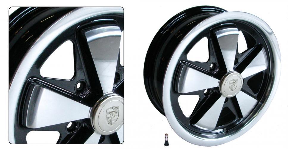 Kolo Fuchs černé/leštěné 5x112mm ET +20 (5.5x15)