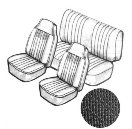 Potahy sedadel/černý vinyl/kit - T.1 Cabrio (1969 » 72)