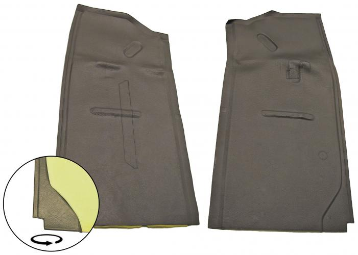 Rohože podlahy přední/šedá pryž - Typ 2 (1962 » 67)