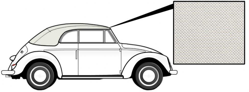Čalounění střechy/bílý vinyl - T.1 Cabrio (1957 » 62)