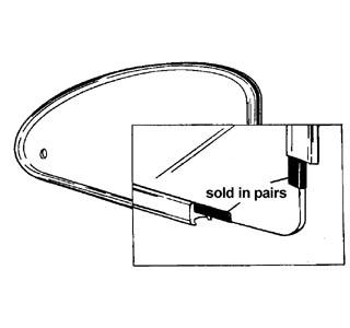 Těsnění rámů/výklopná okna boční L/P - Typ 1 (» 1964)