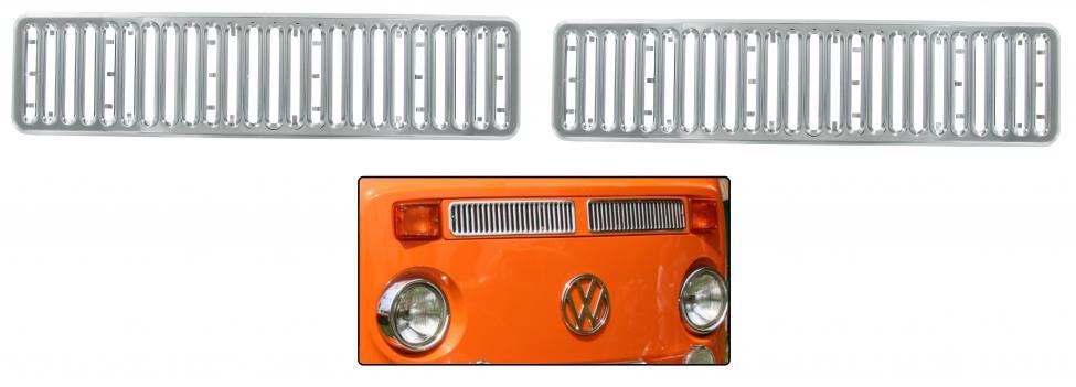 Mřížky ventilace Alu/přední - Typ 2 (1972 » 79)