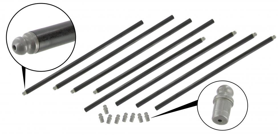 Tyčky zdvihátek ventilů HD/chromoly - Typ 1/3/IV/CT/CZ/WBX motory (1960 »)