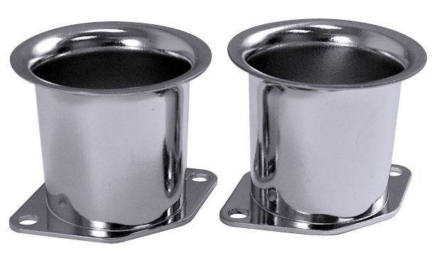 Trychtýře karburátoru chrom/55mm (Weber IDF/Dellorto/EMPI HPMX)