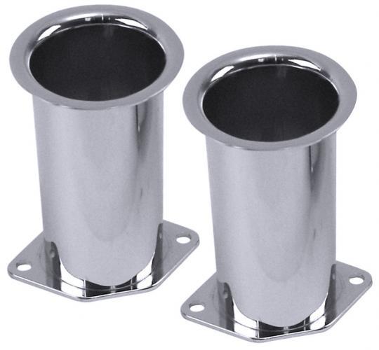 Trychtýře karburátoru chrom/výška 100mm (Weber IDF/Dellorto/EMPI HPMX)