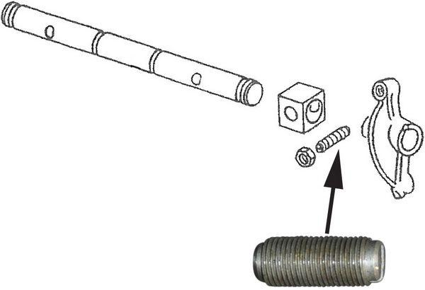 Šroub 10mm/seřízení vůle ventilů - Typ IV motor (1.8/2.0cc)