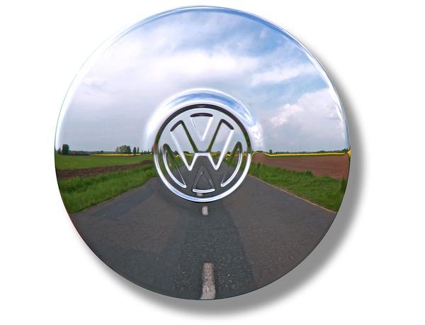 Poklice kola chrom/logo VW - Typ 1/2/3/14/25 (1965 »)