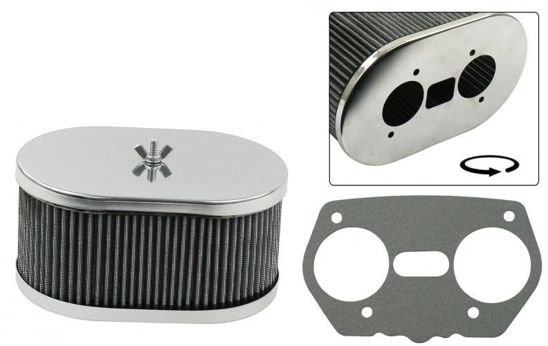 Filtr vzduchu chrom/178x114xx89mm (Weber IDF/Dellorto/EMPI HPMX)