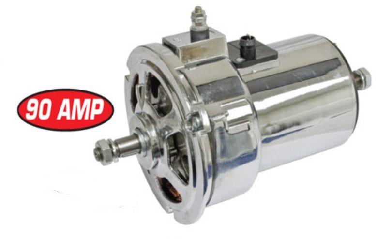 Alternátor chrom 12V/90Amp - Typ 1 motor (1974 »)