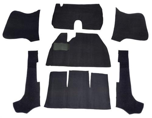 Koberce podlahy w.o./černé - Typ 1 Cabrio (1957 » 70)