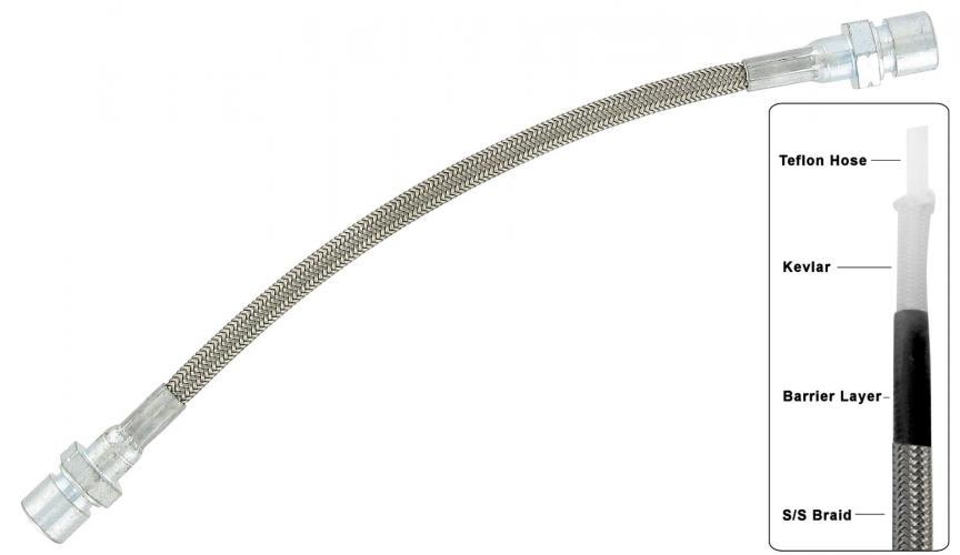 Hadice brzd 270mm S/S zadní - Typ 1/2/3/14/181 (kyvná náprava)