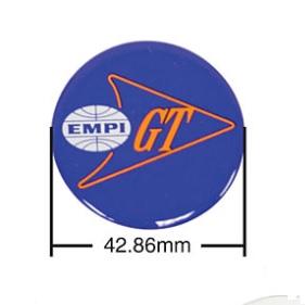 Samolepky modré/Empi GT/krytky kol/43mm - Typ (univerzál)