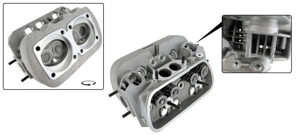 Hlava motoru komplet 040/H dual - Typ 1/3 motory (» 1992)