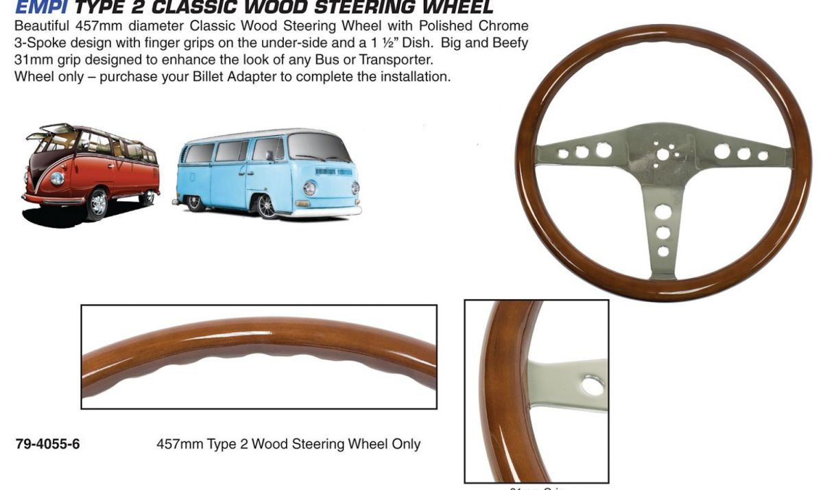 Volant 457mm/dřevo - Typ 2 (» 1979)