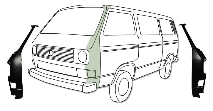 Sloupek-A přední/P - Typ 25 (1979 » 92)