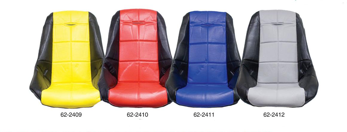Potah sedadla černo/šedý vinyl - T.1 Buggy/Baja (#62-2400)