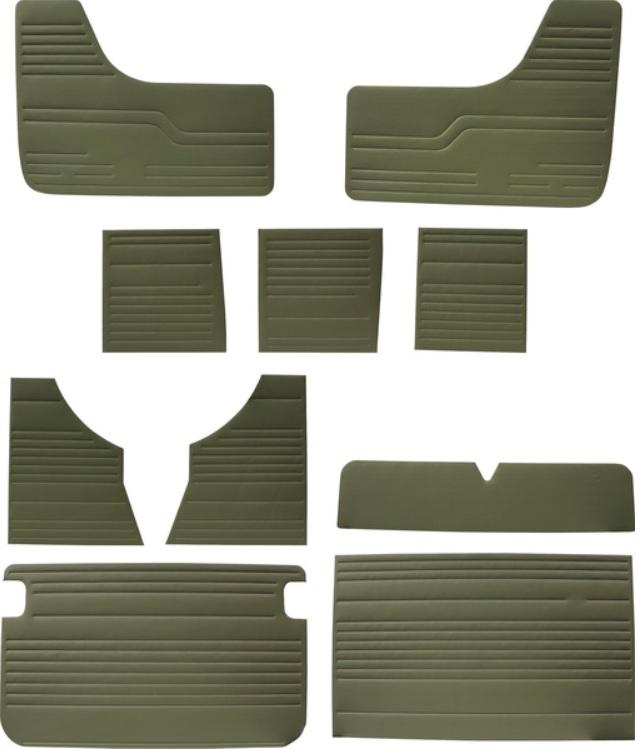 Panely interiéru/zelený vinyl - Typ 2 (1967 » 79)
