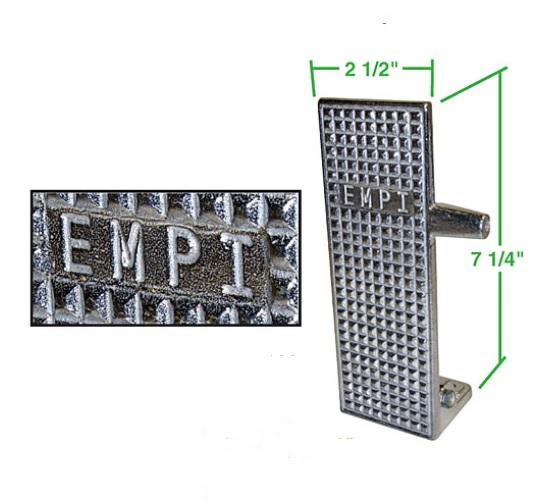 Pedál plynu EMPI/Alu - Typ (universál)