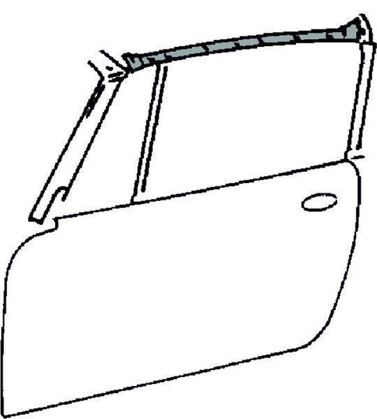Těsnění střechy/boční L - Porsche 911 Targa (1964 » 69)