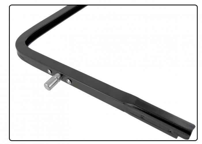 Rámeček křídla ventilace/černý L - Typ 2 (1967 » 79)