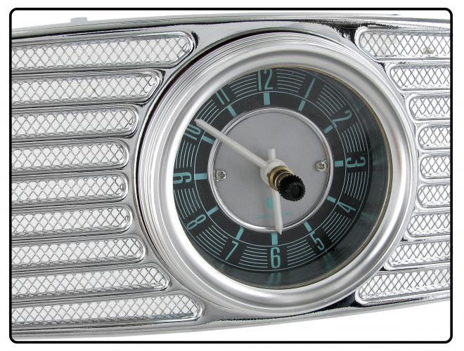 Mřížka reproduktoru/chrom+hodiny/palubní deska - Typ 1 (1952 » 57)