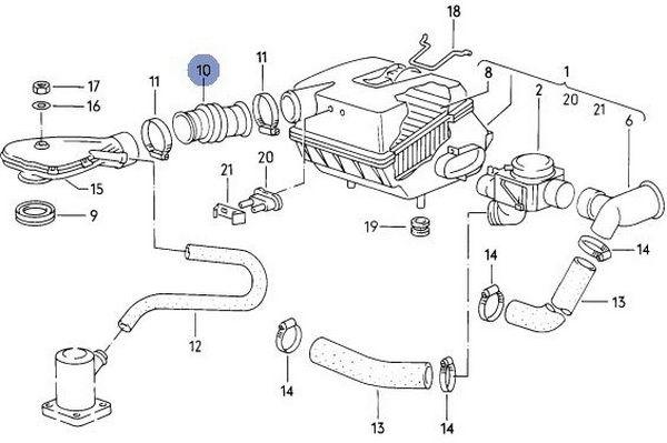 Hadice/propojka odvětrání A/C potrubí - Typ 25 WBX motor (1982 »)