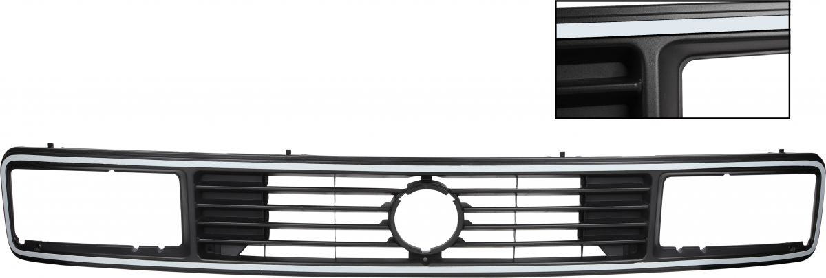 Mřížka chladiče/šedý okraj/horní - Typ 25 Carat (1979 » 92)