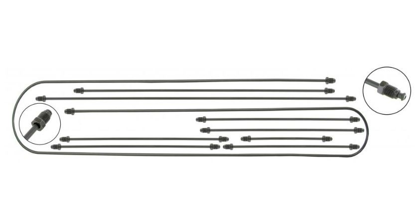 Trubky brzd 1-okruh/kit - Typ 3 (1963 »)