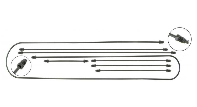 Trubky brzd 2-okruh/kit - Typ 3 (kyvná náprava)